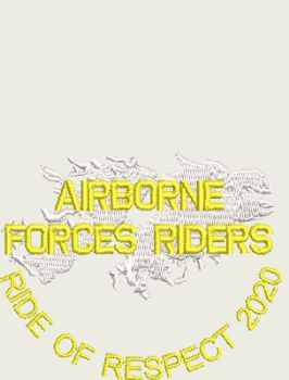 AIRBORNE FORCES RIDERS EMBROIDERED TSHIRT